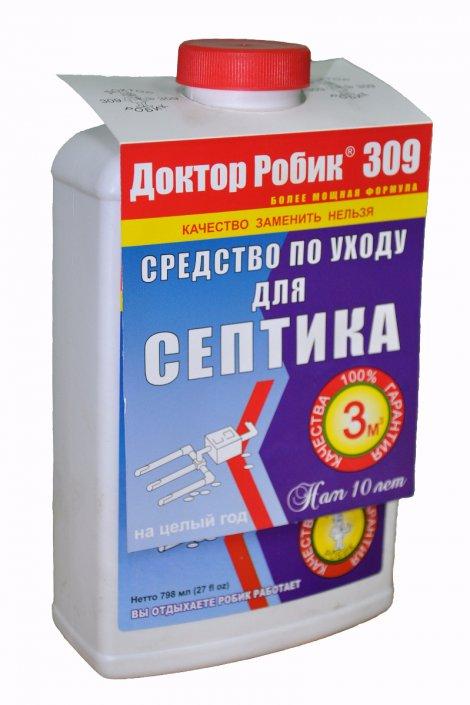 бактерии для септиков доктор робик-309